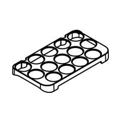 シャープ 冷蔵庫用 たまご仕切り(201 945 1645)