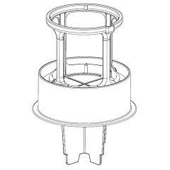 シャープ 掃除機用 筒型フィルター(下)(217 221 0600)
