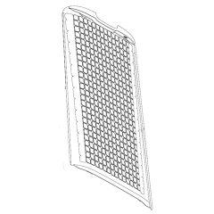 シャープ 加湿空気清浄機用 後ろパネル<ホワイト系>(280 158 0951)