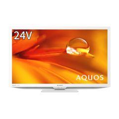 24V型 地上・BS・110度CSデジタルハイビジョン液晶テレビ<ホワイト系>
