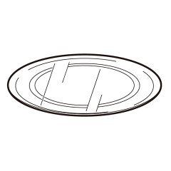 シャープ オーブンレンジ用 丸皿(ガラス製)(350 293 0219)