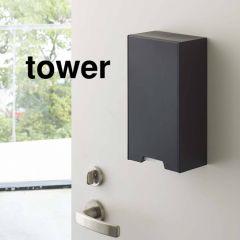 2way マスク収納ケース/タワー/スリム ブラック