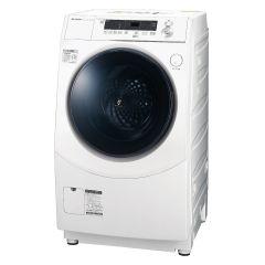 【左開きタイプ】プラズマクラスタードラム式洗濯乾燥機<ホワイト系>+標準配送設置サービス セット