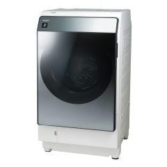 【左開きタイプ】プラズマクラスタードラム式洗濯乾燥機<シルバー系>+標準配送設置サービス セット