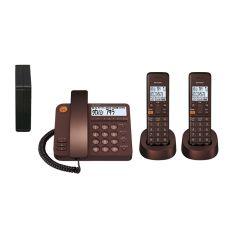 デジタルコードレス電話機(子機2台タイプ)<ブラウン系>