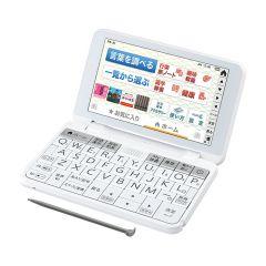 【生活・教養】カラー電子辞書(音声対応/タイプライターキー配列)<ホワイト系>